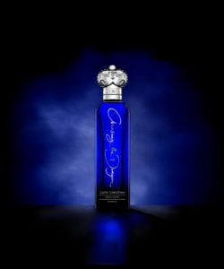 Clive Christian's Chasing the Dragon Hypnotic comes in a blue bottle with a silver crown cap