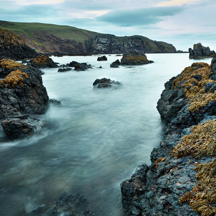 An English ocean cove in winter has inspired Clive Christian