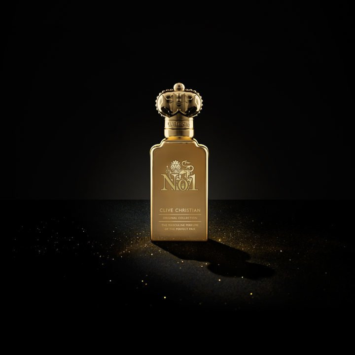 Clive Christian No 1 masculine perfume comes in a gold bottle made of the most precious ingredients from around the world